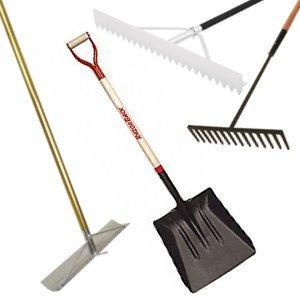 Lutes, Scrapers, Rakes & Shovels