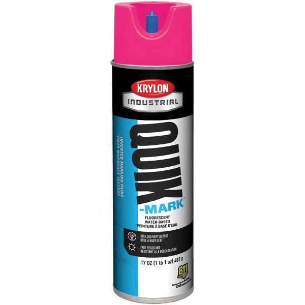 Pink Fluorescent - Krylon A03612004 Quik-Mark Inverted Marking Paint