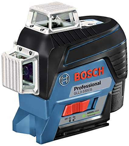 Bosch GLL3-330CG 360 Degree Connected Green-Beam Three-Plane Leveling and Alignment-Line Laser - FREE SHIPPING & BONUS BATTERY