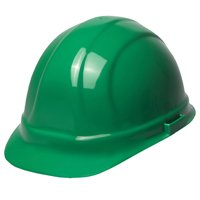 ERB Green Omega II Ratchet Hard Hat