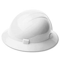 ERB White Americana Full Brim Rachet Hard Hat