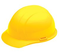 ERB Yellow Americana Rachet Hard Hat