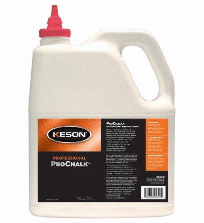 Keson ProChalk Marking Chalk Refill 5 lbs - White