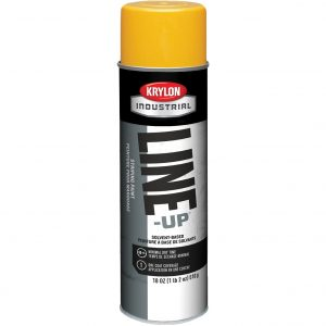 Highway Yellow - Krylon Line-Up Pavement Striping Paint
