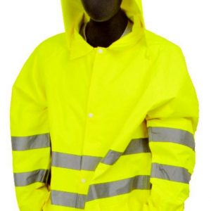M-Safe Hi-Vis Lime Rain Jacket