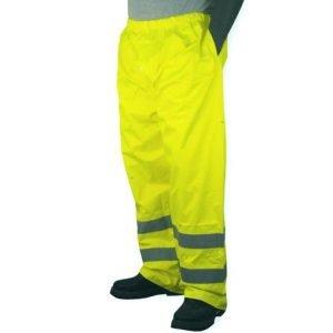 M-Safe Hi-Vis Lime Rain Pants