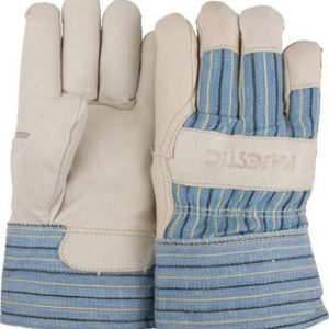 Majestic Pigskin Palm Leather Safety Cuff  Work Gloves - Lined