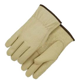 Pigskin Leather Fleece Lined Driver Gloves