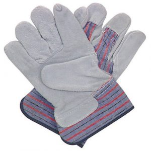 Split Leather Safety Cuff Work Gloves