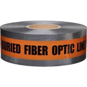 Caution Buried Fiber Optic/Telephone Line Below - Tape