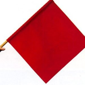 "Handheld Red Warning Flag 24"" Cloth"