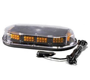 Low Profile Amber LED Vehicle Mini-Light Bar w/Magnetic Mount
