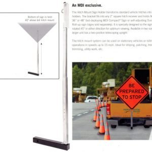 MDI Hitch Mount Sign Holder