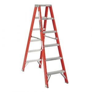 Michigan Ladder 381112 Heavy Duty 12 ft. Fiberglass Double Front Step Ladder