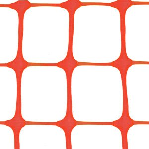 "Orange Square Mesh Barrier Safety Fence 50"" Roll"