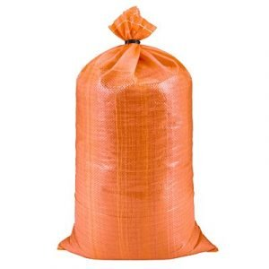 Orange Woven Poly Sand Bag