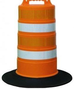 "Road Safety Barrel w/ 4"" Stripes"