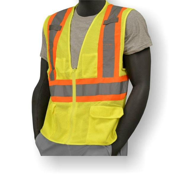 "Custom ""Your Company"" DOT Safety Vest w/ Zipper"