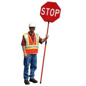 Telecoping Stop / Slow Traffic Control Paddles