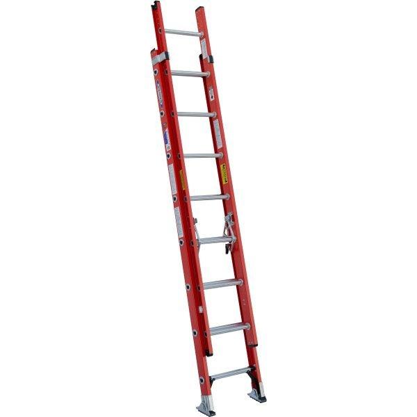 Werner D6216-2 16 ft Type IA Fiberglass D-Rung Extension Ladder