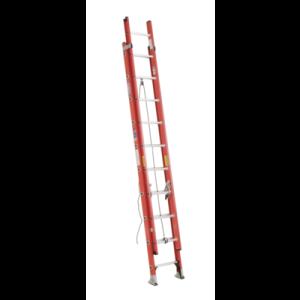 Werner D6220-2 20 ft Type IA Fiberglass D-Rung Extension Ladder