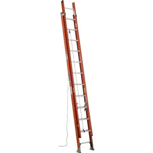 Werner D6224-2 24 ft Type IA Fiberglass D-Rung Extension Ladder