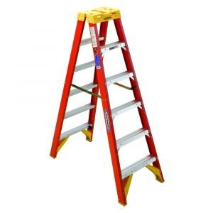 Werner T6206 6 ft Type IA Fiberglass Twin Ladder