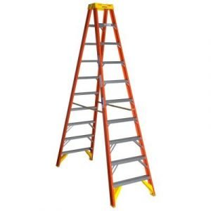 Werner T6210 10 ft Type IA Fiberglass Twin Ladder