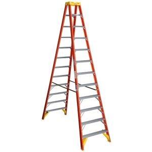 Werner T6212 12 ft Type IA Fiberglass Twin Ladder