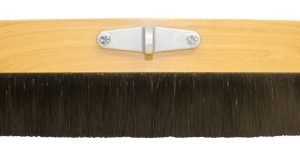 "Kraft 48"" Wood Medium-General Purpose (Black Poly) Cement Finish Broom"