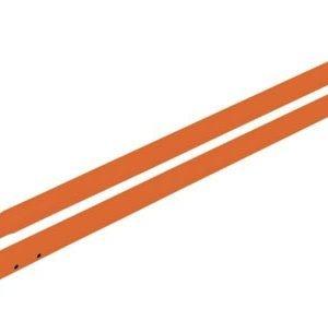 Kraft 6' Orange Powder Coated Aluminum Swaged Handle