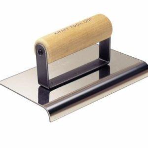 "Kraft Tool 6""x4 x 1/2"" Radius Cement Edger w/Wood Handle"