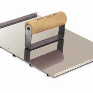 "Kraft Tool 8""x10-1/2"" Wheelchair Hand Groover w/Wood Handle"