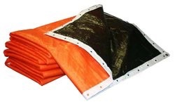 "3/8"" Foam Core Concrete Curing Blanket 6' X 25' 5-pack"