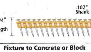 """Dewalt DCN890125 Cordless Concrete Nailer PIN 1-1/4"""" x .102"""""""