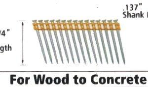 """Dewalt DCN890225 Cordless Concrete Nailer PIN 2-1/4"""" x .137"""""""