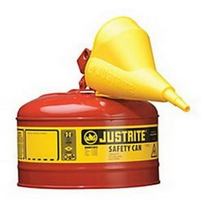 Justrite Type I  Safety Gas Can -  2.5 Gallon Container