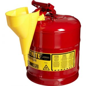 Justrite Type I Safety Gas Can -  5 Gallon Container