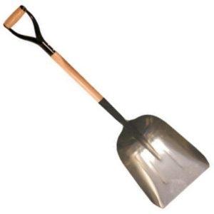 """Kraft Tool Aluminum Scoop w/ Wooden """"D"""" Handle"""