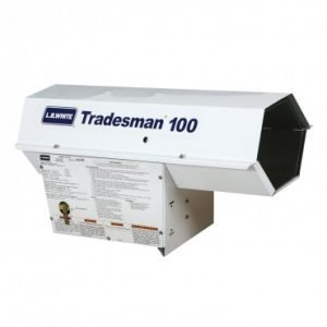 LB White Tradesman 100 Forced Air Portable Propane Heater