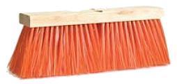 "Magnolia Brush Safety Orange Poly Street Broom - 16"""