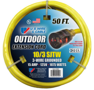 Contractor 10 Gauge Outdoor Extension Cord 50 ft.