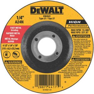 "Dewalt DW4541 Metal Grinding Wheel 4.5"" x 1/4"" x 7/8"""