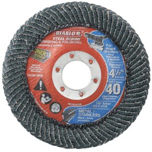 "Diablo Steel Demon 40-Grit Corner-Edge Grinding & Polishing 4.5"" Flap Disc"