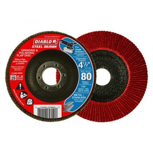 "Diablo Steel Demon 80-Grit Grinding & Polishing 4.5"" Flap Discs - 5-Pack"