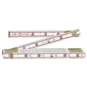 Lufkin 6FT / 2M Wood Red End Engineer's Scale