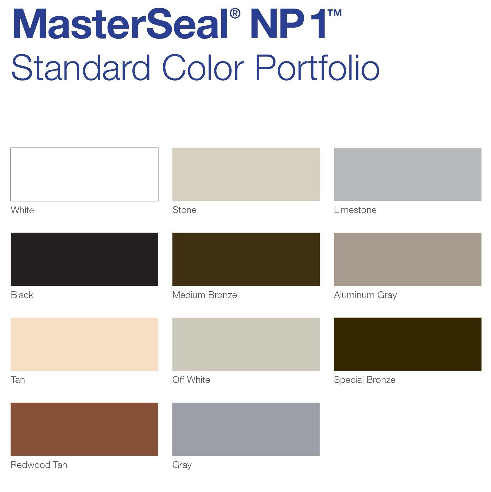 BASF Sonolastic NP1 Polyurethane Sealant - JC Smith Inc