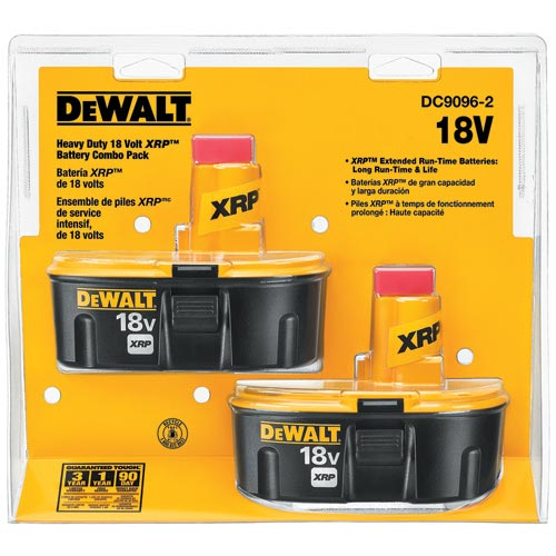 Dewalt DC9096-2 18V XRP Battery Combo Pack